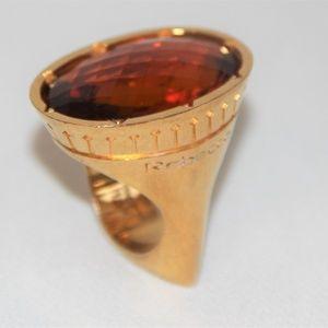 Rare Vintage Rebecca Minkoff  Solitare Ring